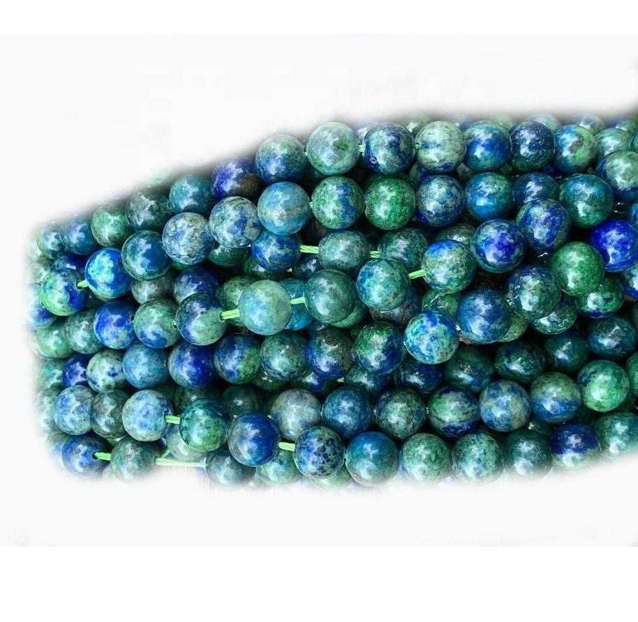 Wholesale Round Natural Chrysocolla Stone Beads Chrysocolla Lapis Smooth Round Beads