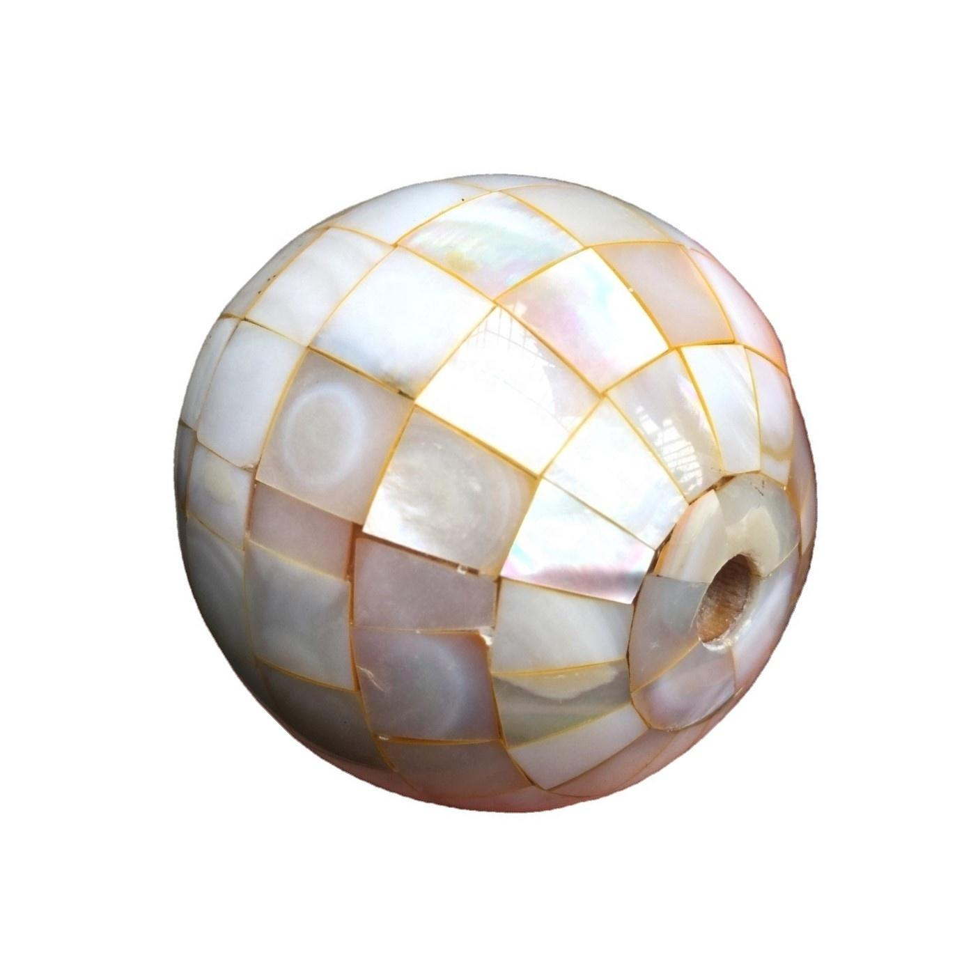 Gemstone mosaic beads mother of pearl shell