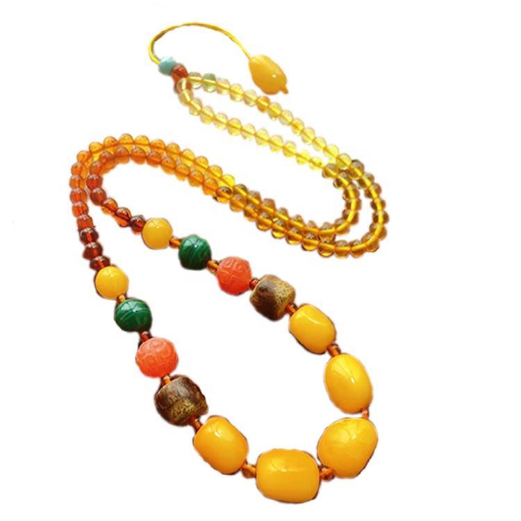 4mm round beads amber necklace mass quantity make wholesale