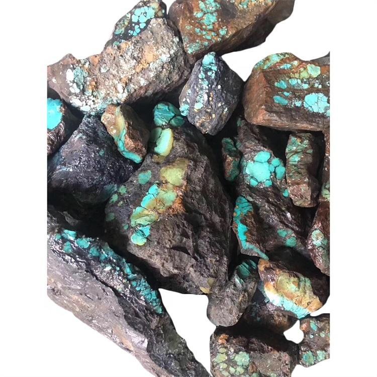 Hubei Yungai Cloudly turquoise mine rough Gemstone nugget make wholesale