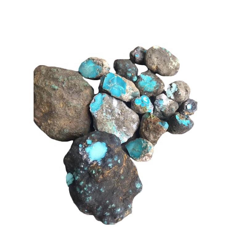 Hubei Yungai turquoise mine rough make wholesale Turquoise Nugget Gem rough Gemstone Chinese Qingu Hubei