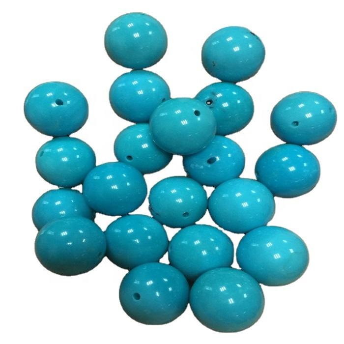 Highest quality natural sleeping beauty turquoise Round Beads