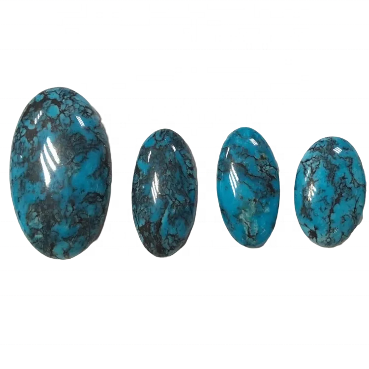Natural turquoise cabochon calibrated flat back oval gemstone available in all calibrated sizes perfectly fits pre-made cases