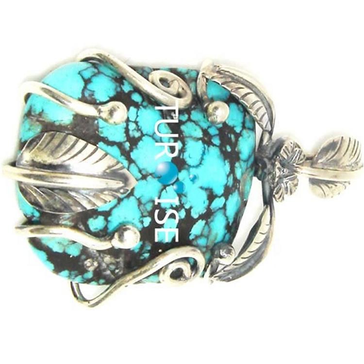 Natural Arizona Turquoise Pendant 925 Sterling Silver Jewelry Sleeping Beauty Turquoise Handmade Arizona Turquoise Pendant