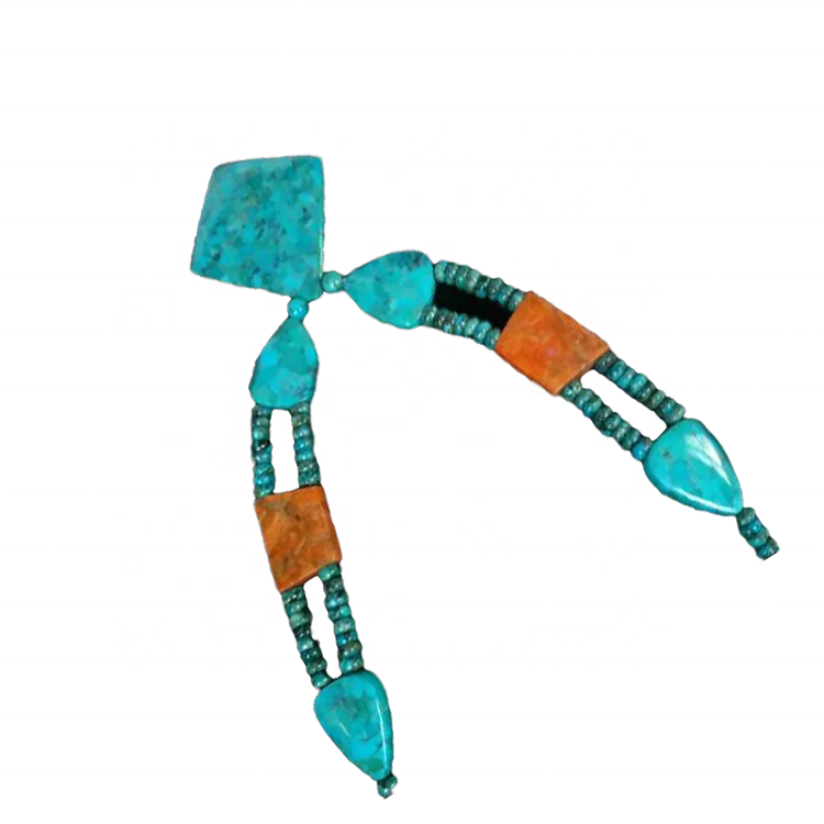 Fancy natural beads turquoise necklace jewellery