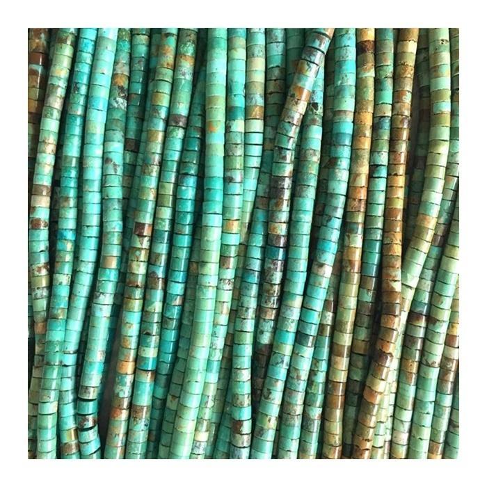 Natural Turquoise Heishi Beads Strands Turquoise HeiShi Shape Beads Gemstone Loose Beads