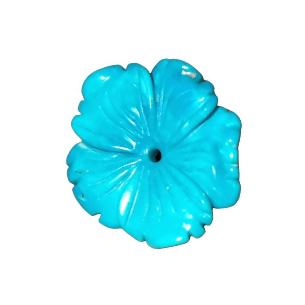 Hand-Carved Turquoise Flower Carved turquoise pendant flowers beads for natural turquoise flower pendant