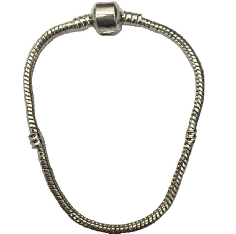 promotional wholesale silver clover charm chain bracelet