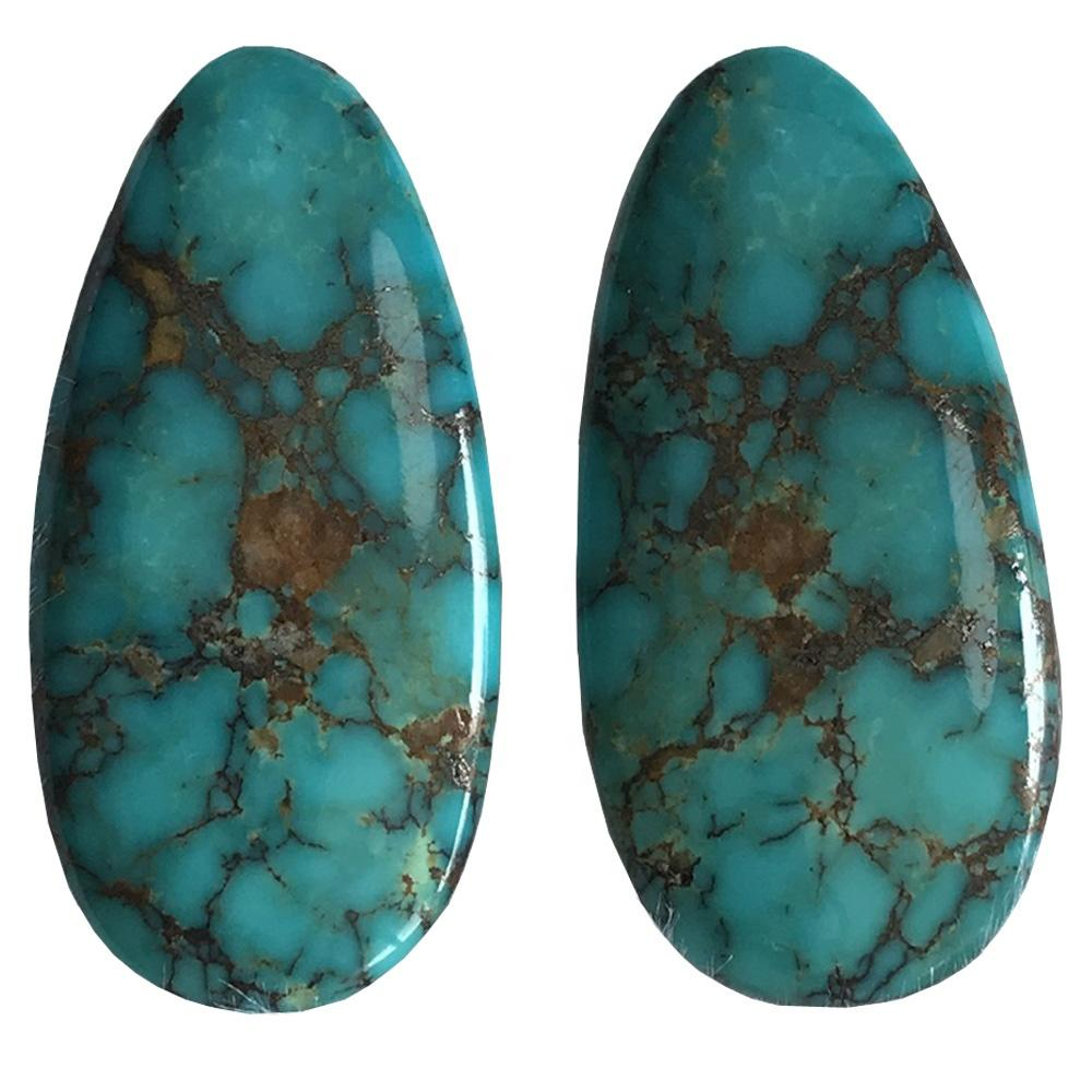 turquoise cabochons  Kingman Turquoise Blue Green Turquoise gemstone for jewellery making