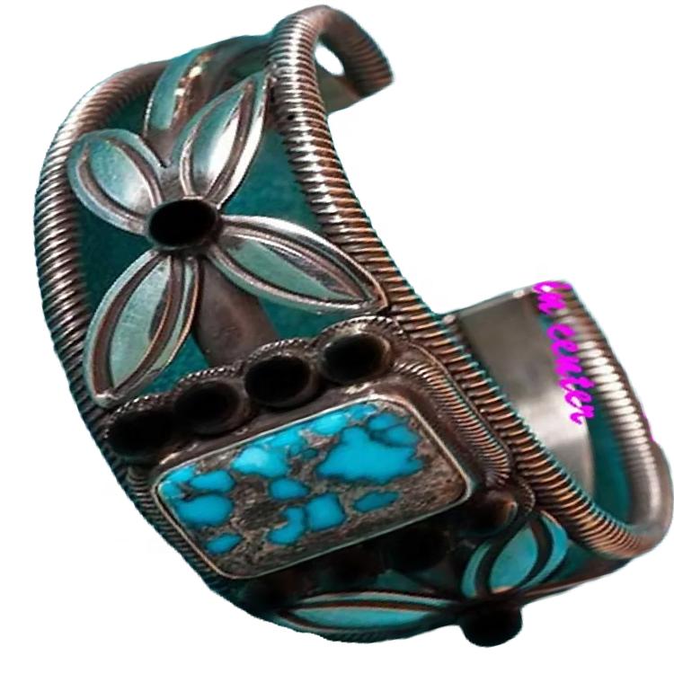 Indian navajo natural Turquoise cuff Bracelet bangle wholesale