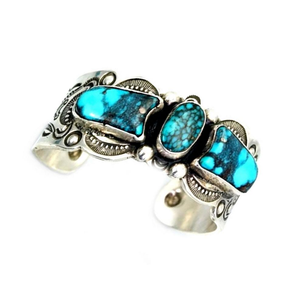 Turquoise Sterling Silver Dark Brown bangles Mens&Womens Custom Sized