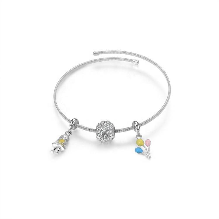 Good quality and low price charms bangles and bracelets
