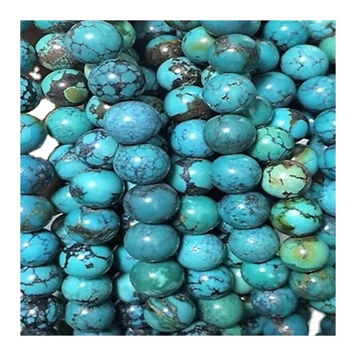 High-Quality Natural Turquoise Round Beads