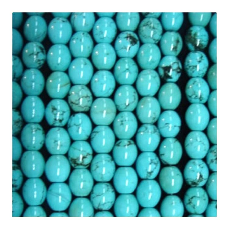 Genuine 100% Natural Turquoise drum Beads Cylinder Rounded Tube Drum Barrel Real Natural Blue Green Turquoise Beads