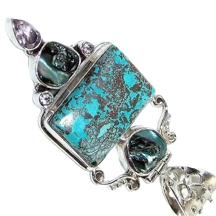 Turquoise pendant 925 Sterling Silver Turquoise Pendant