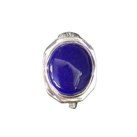 Lapis lazuli silver ring factory price 925 sterling silver gemstone ring