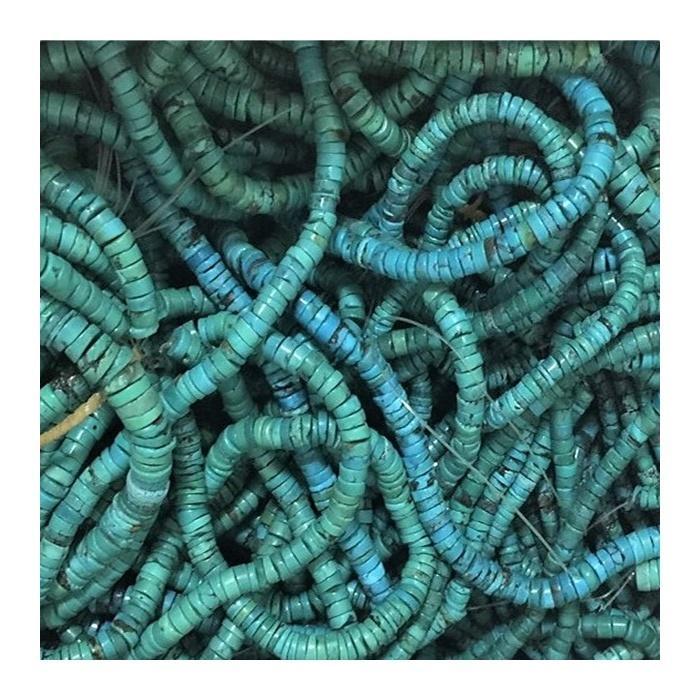 New heishi shape turquoise loose beads in bulk
