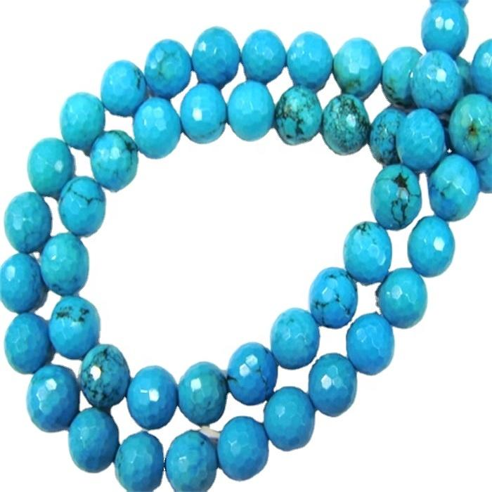 turquoise rough jade gemstone blue turquoise faceted beads