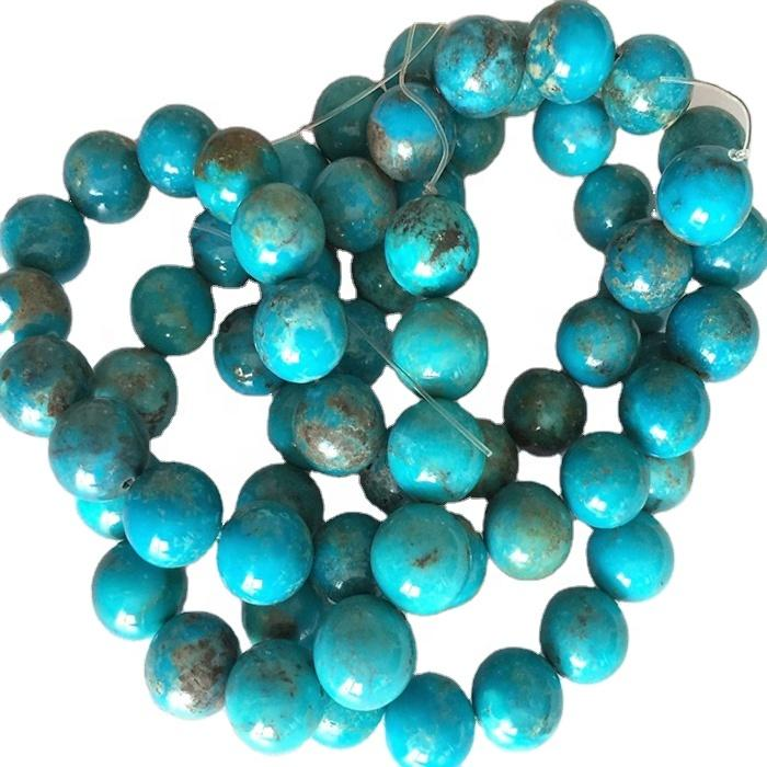 Loose beads turquoise Queen Turquoise Beads Grade AAA Round Loose Beads Bulk Lot Options