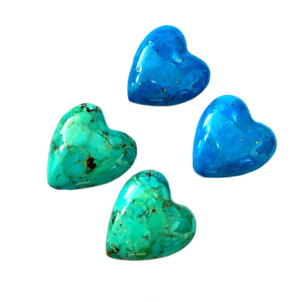 Natural Arizona Turquoise Heart Shape Beads Turquoise gemstone Jewelry Good Quality Gemstone Cabochon