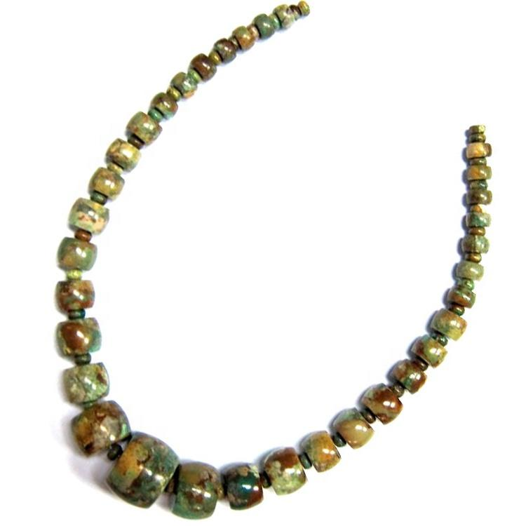 Cross turquoise necklace costume jewelry