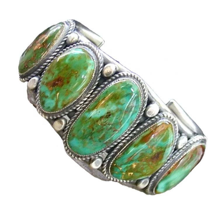 Beautiful Turquoise Gemstone Bangles Handmade Fashion Jewelry