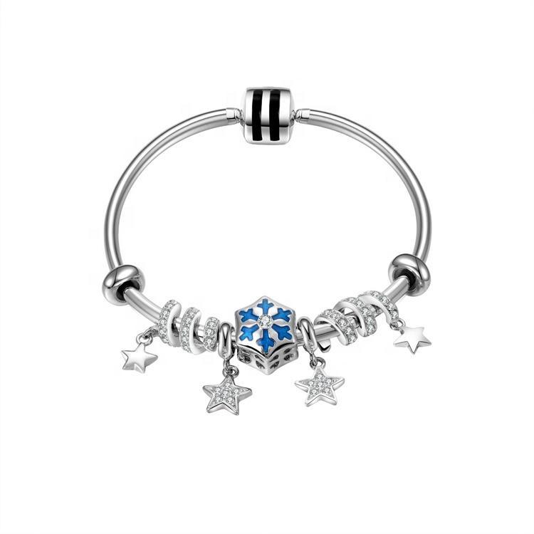 Gift for girl friend famous brand 925 silver bracelet