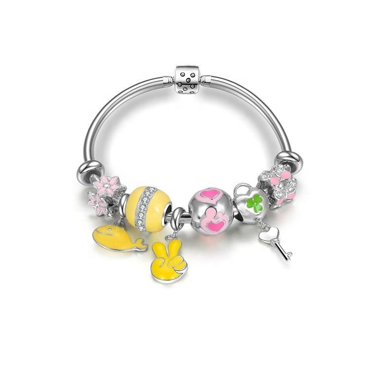 2021 famous brand christmas glass bead bracelet