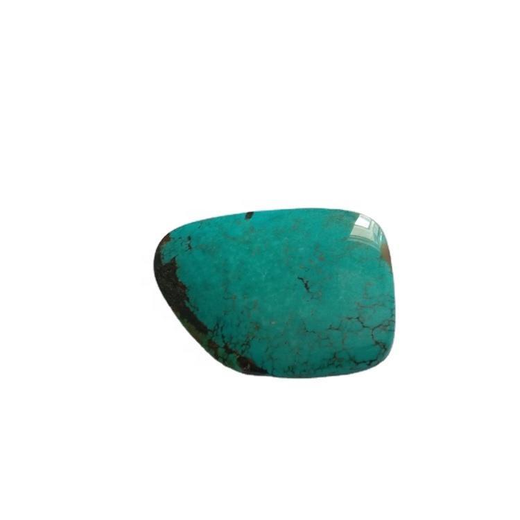 Bezel set semi  stones turquoise free shape cabochons