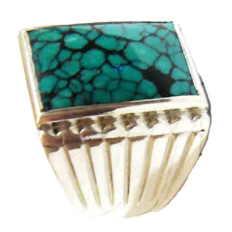 Turquoise ring jewellery Tibetan Turquoise Ring 925 Sterling Silver Rings