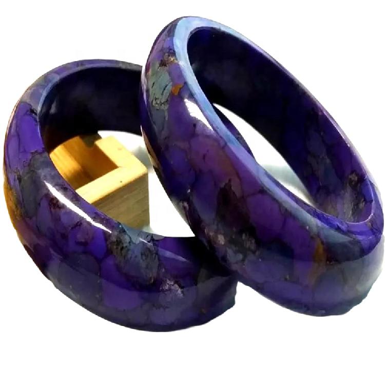 Handmade genuine turquoise bangles and bracelets Simple Silver Turquoise Bangle Bracelet Tribal Gemstone Festival Boho Jewelry