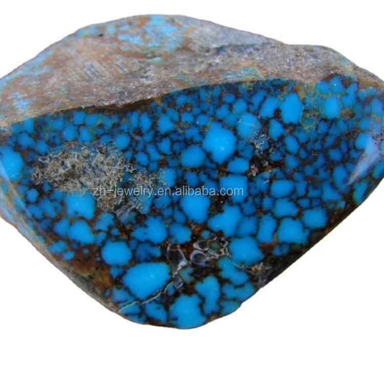 rare bule -color precious stones turquoise Kingman spiderweb turquoise rough from ARIZONA