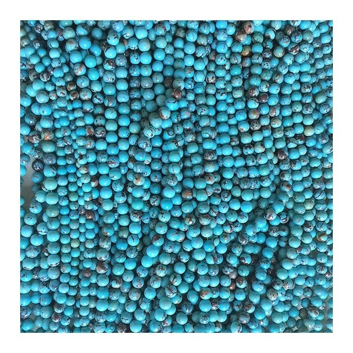 Natural Turquoise Round Beads 3mm 4mm 6mm 8mm 10mm 12mm  gemstone beads genuine stone loose gem stone beads