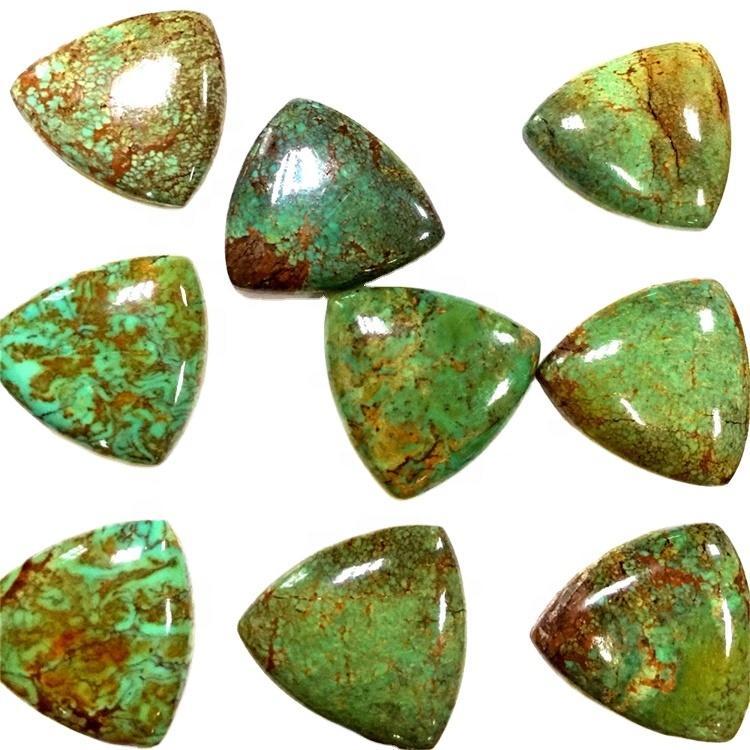 Arizona Turquoise Triangle shape cabochon Natural Arizona Turquoise Triangle cabochon loose gemstone wholesale