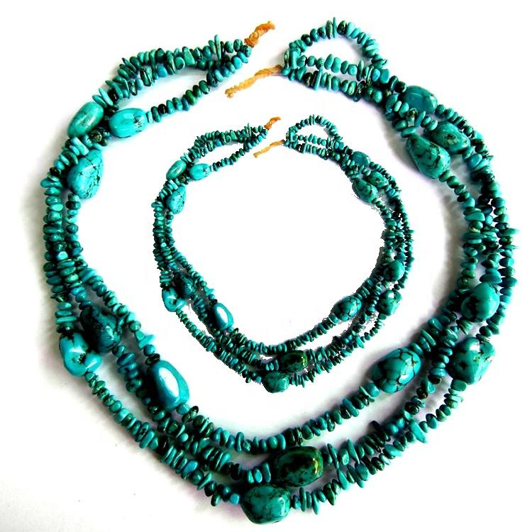 Real turquoise necklace hot sale Edgy Turquoise Jewelry Statement Necklace