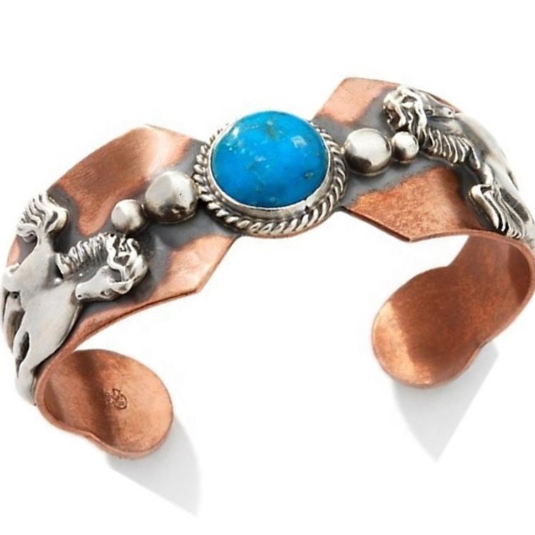 Gemstone Turquoise Cuff Bangle Natural Turquoise Gemstone Bangle 925 Silver Cuff Bangle