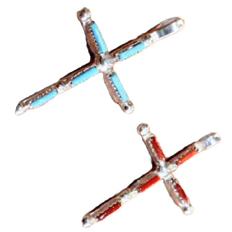 Natural Turquoise pendant gemstone Lovely Turquoise Pendant Cross Design 925 Sterling Silver Pendant