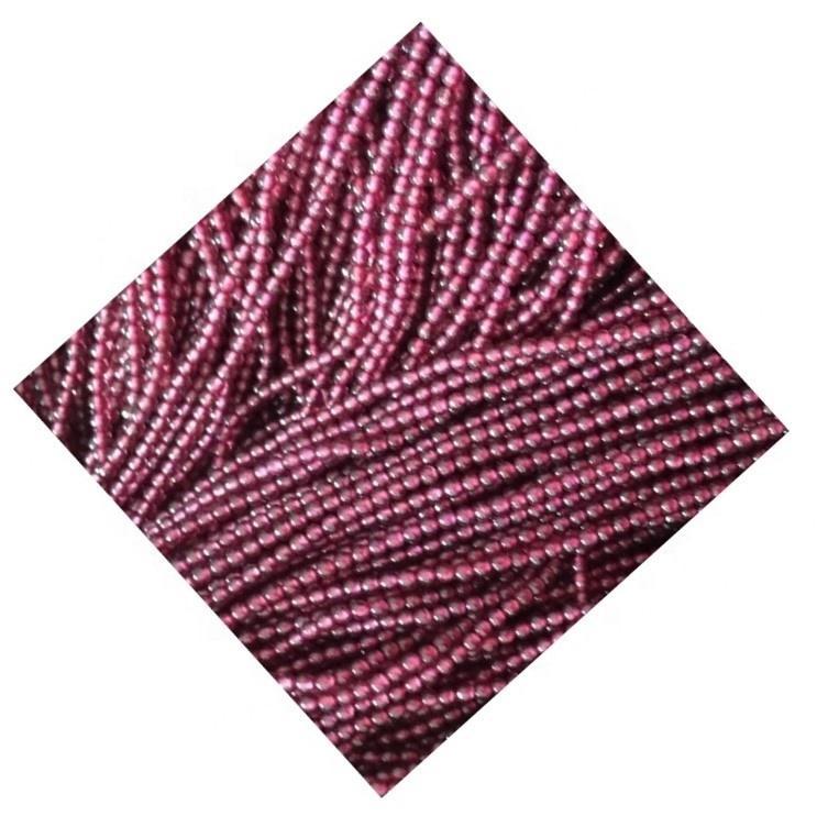 Brazil red garnet precious  crystal beads Natural Garnet Beads Smooth Round