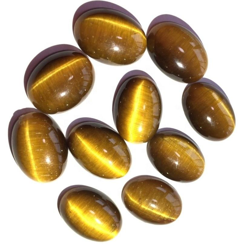 Natural All Shaped Tigers Eye Free Size Loose Gemstone Wholesale Lot Cabochon
