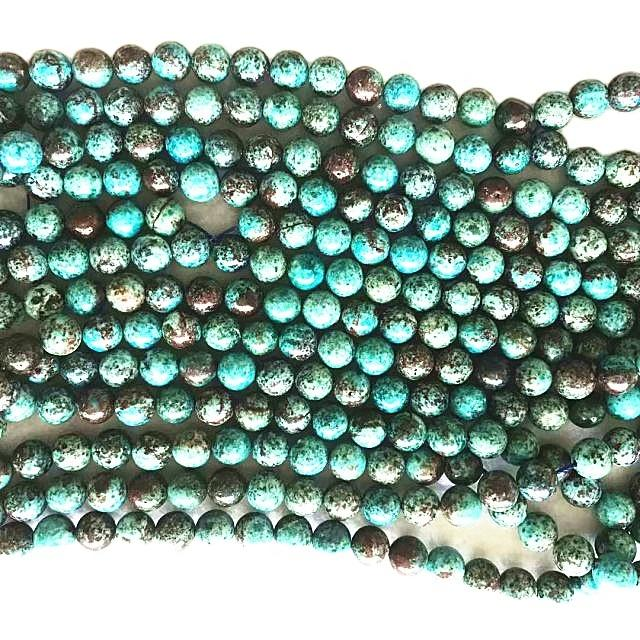 American Style Natural Chrysocolla Round Bead Natural Round Gemstone Loose Beads