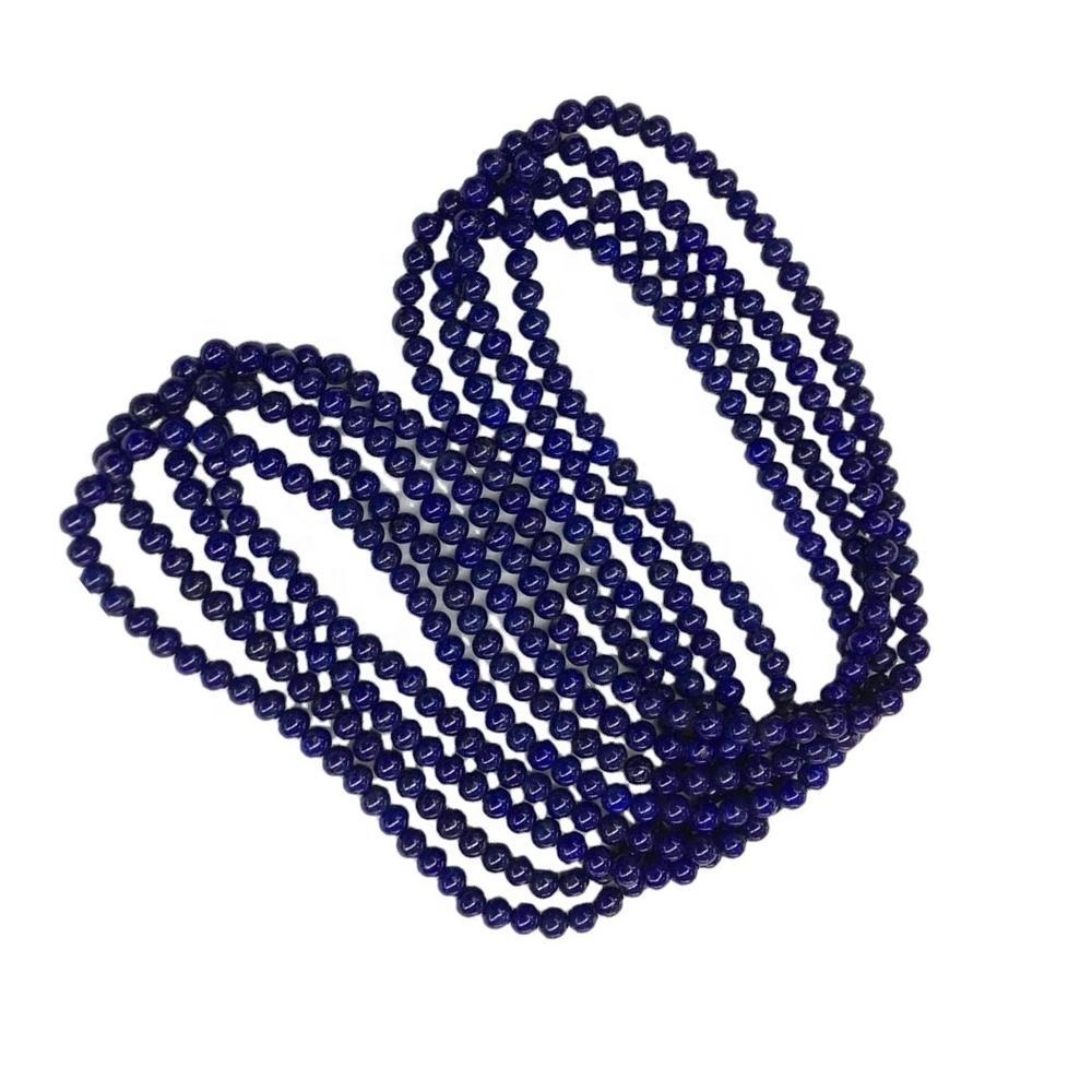 Genuine 100% Natural Blue Lapis Round Beads make wholesale