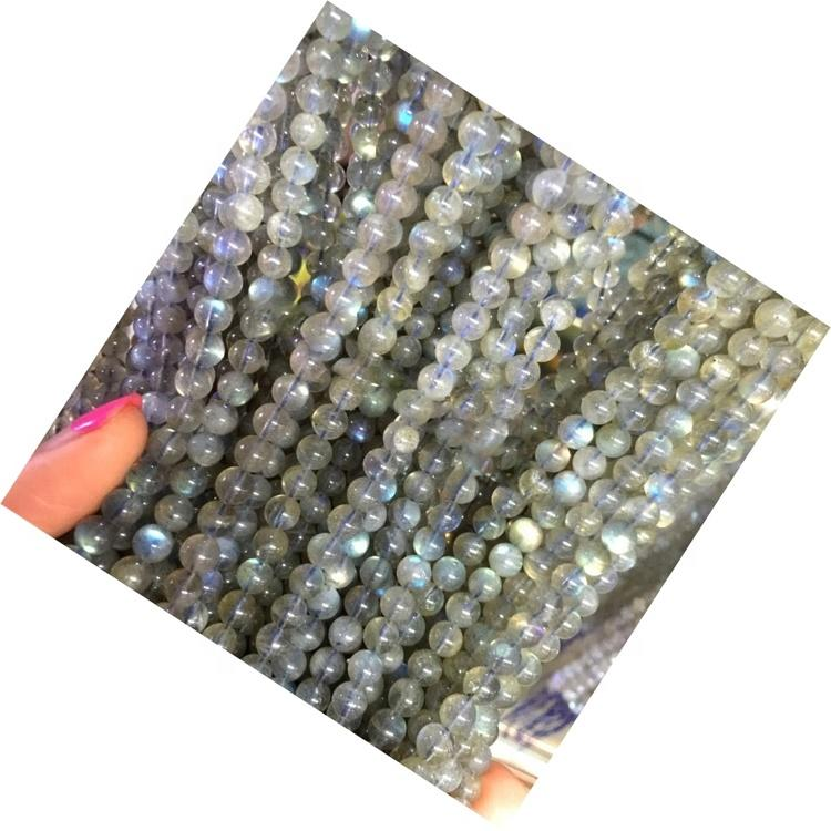Factory Price Natural Labradorite Round stone gemstone stone Beads round gem stone beads