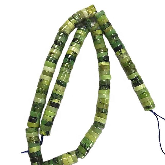 Natural  Canadian jasper green gemstone string of beads Jewelry wholesale