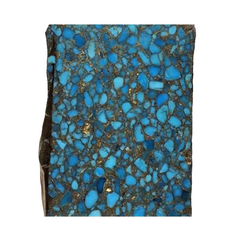 genuine quality turquoise compressed turquoise rough material Blue Copper Mohave Turquoise