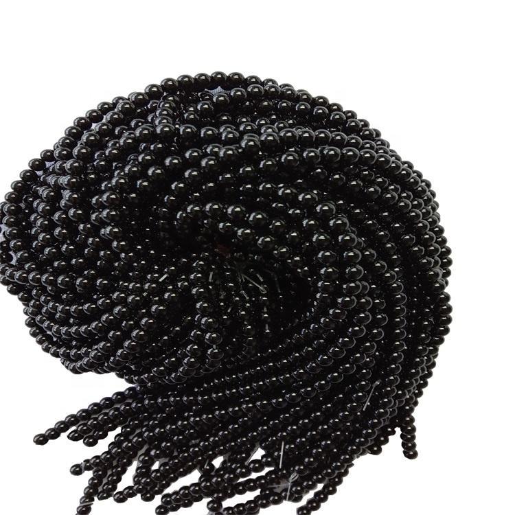 Natural Black Onyx  Gemstone Round  Beads 8mm  Black Onyx  Beads strings jewelry