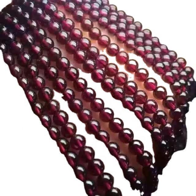 Natural round beads for jewelry making loose gemstone garnet