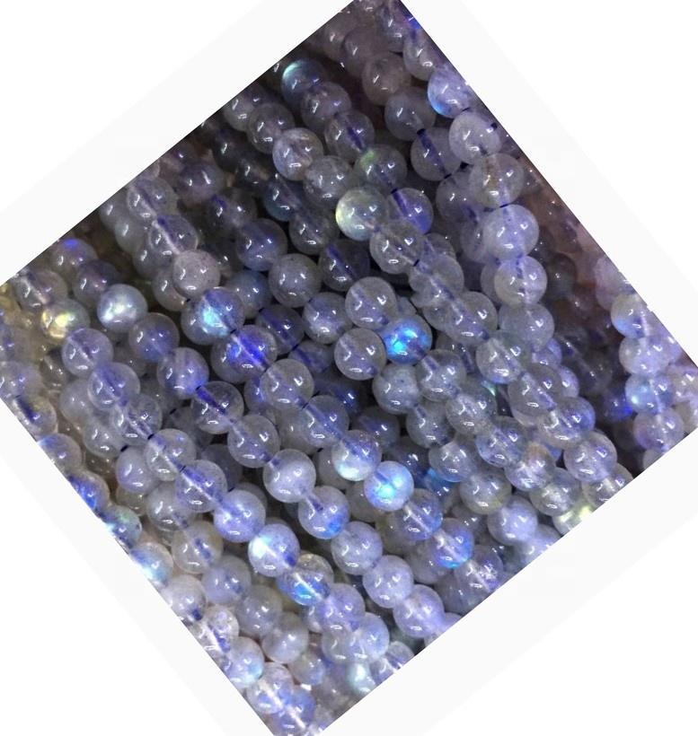 Genuine Natural Translucent blue Labradorite Loose Beads natural blue flash labradorite bead