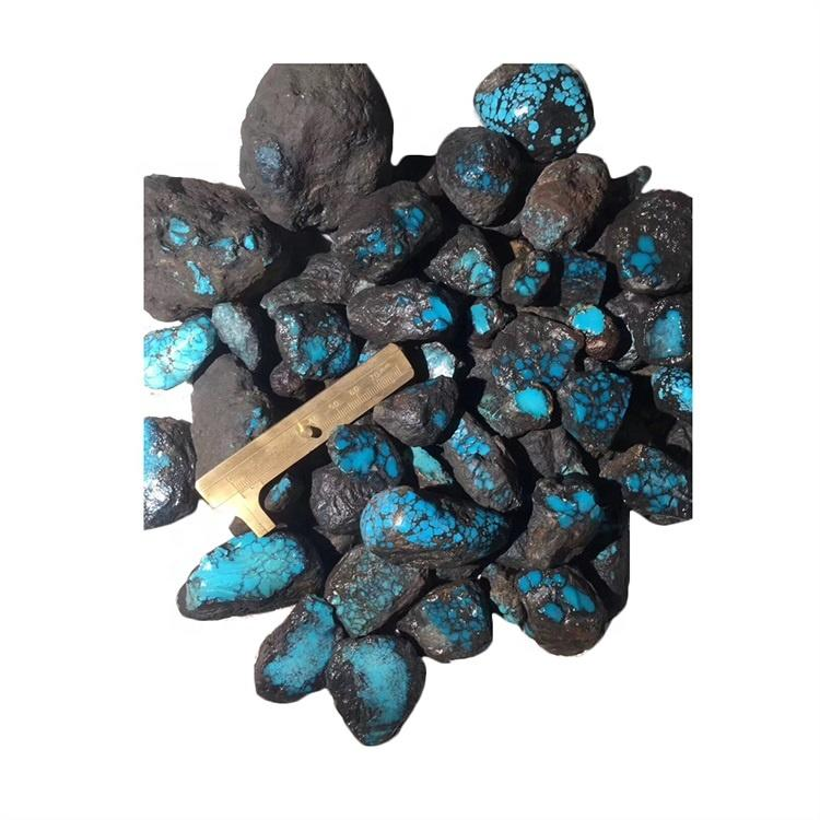 spiderweb top quality turquoise rough material come from China Northwest region of the Hubei Province
