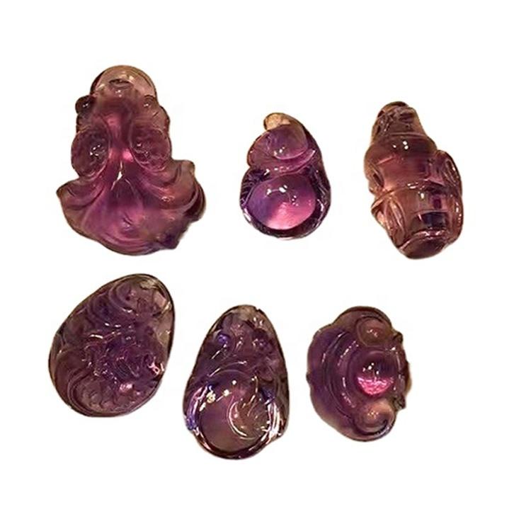 Citrine carving gemstone flowers/animal pendant beads for jewelry