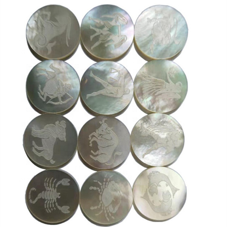 Hot sell wholesale loose beads Zodiac signs  carved beads  natural gemstone